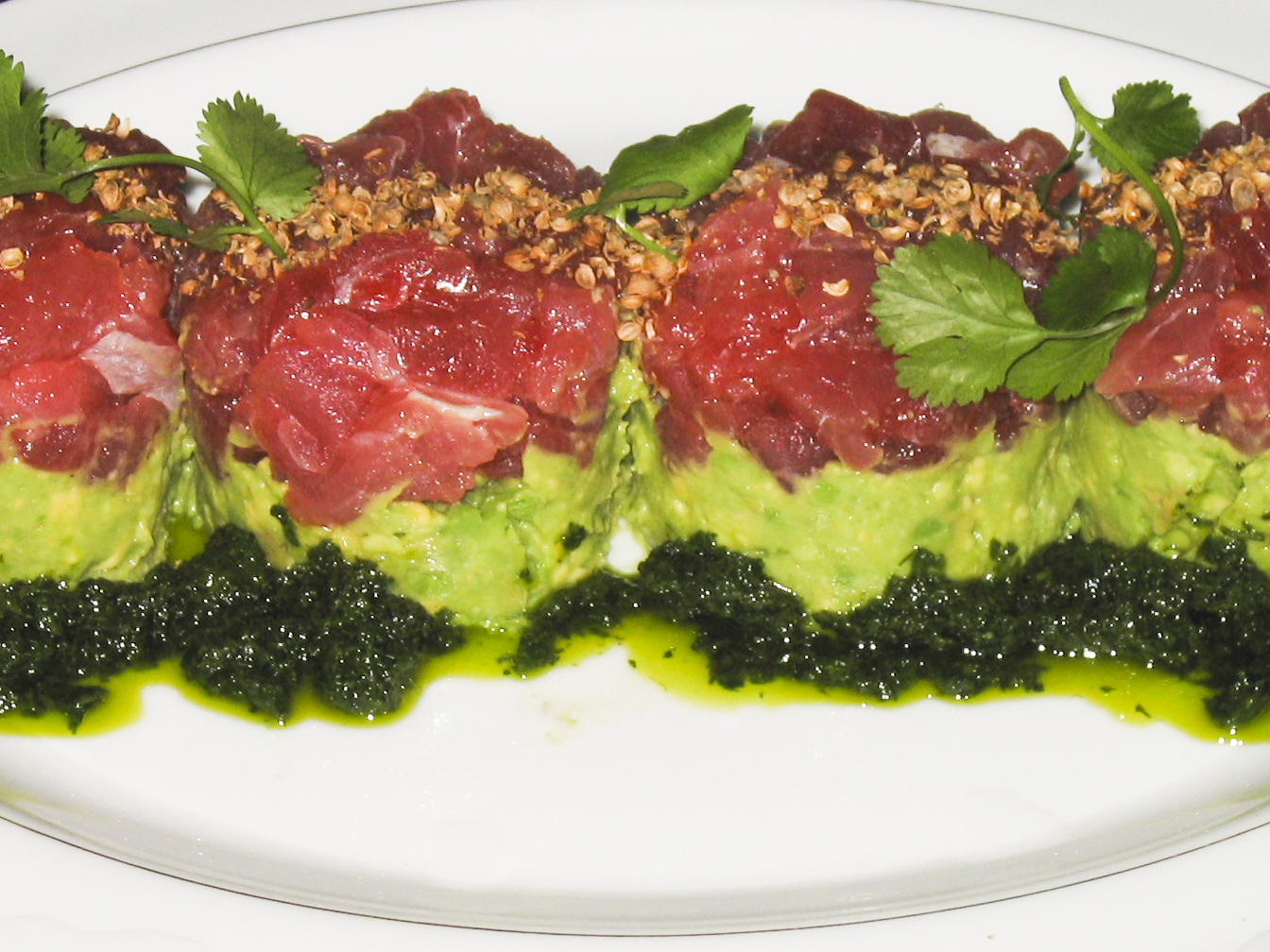 ... about asian tuna tartare recipe tuna tartare tower shiso tuna tartare