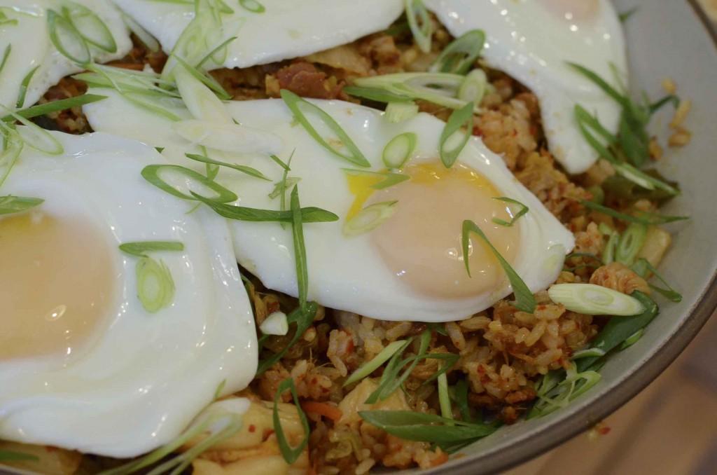 kimchi bacon fried rice and eggs recipe yummly bacon kimchi fried rice ...