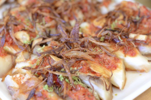 Smoky Eggplant with Shallot and Dried Shrimp